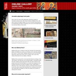 Sacred Texts: Pilgrim's map to Jerusalem