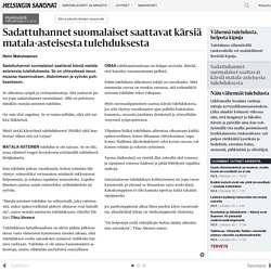 Sadattuhannet suomalaiset saattavat kärsiä matala-asteisesta tulehduksesta - Hyvinvointi - Päivän lehti - Helsingin Sanomat