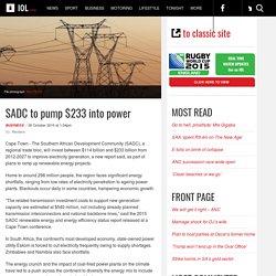 sadc-to-pump-233-into-power-1.1925230#