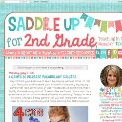 Saddle up for Second Grade: Vocabulary