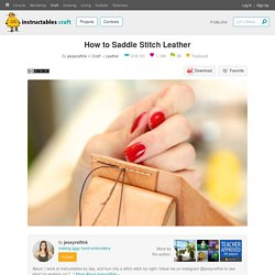 How to Saddle Stitch Leather : 8 Steps