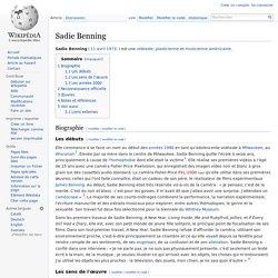 Sadie Benning