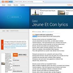 Saez - Jeune Et Con lyrics