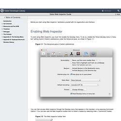 Safari Web Inspector Guide: Get Oriented