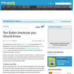 Ten Safari shortcuts you should know