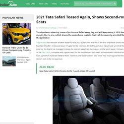 2021 Tata Safari Teased Again, Shows Second-row Captain Seats