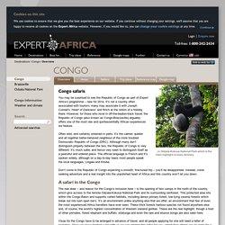 Congo safaris & gorilla trekking trips