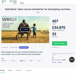 SafariSeat: Open source wheelchair for developing countries. by Uji