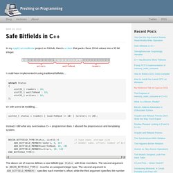 Safe Bitfields in C++