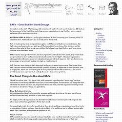 SAFe – Good But Not Good Enough