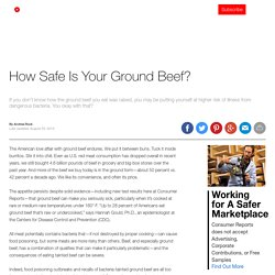 How Safe Is Your Ground Beef?