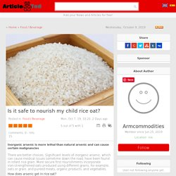 Is it safe to nourish my child rice oat? Article