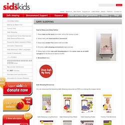 Safe Sleeping | Sids and Kids