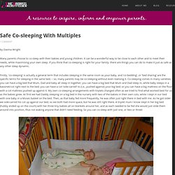 Safe Co-sleeping With Multiples