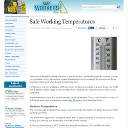 Safe Working Temperatures