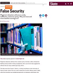 Turnitin and SafeAssign plagiarism detection programs: Why are they all ineffective?