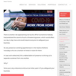 Safeguard your Business from Coronavirus – Work from Home - Wisdom IT Solutions