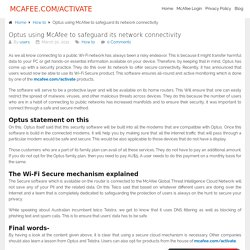 Optus using McAfee to safeguard its network connectivity