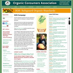 Safeguard Organic Standards
