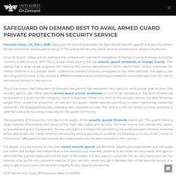 Safeguard On Demand Best To Avail Armed Guard Private Protection Security Service