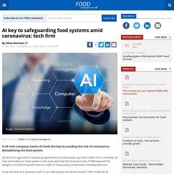 AI key to safeguarding food systems amid coronavirus: tech firm