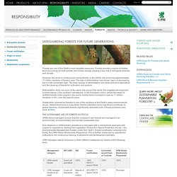 Safeguarding forests for future generations