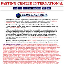 How To Fast Safely: Juice Fasting at Fasting Center International!
