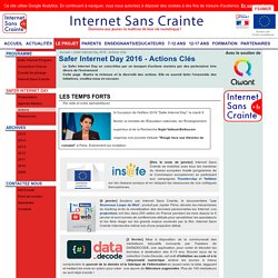 Safer Internet Day 2016 - Actions Clés