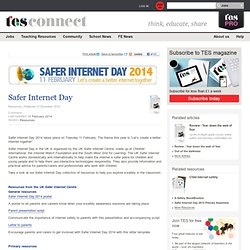 TES link to a lot of resources about Safer Internet Day
