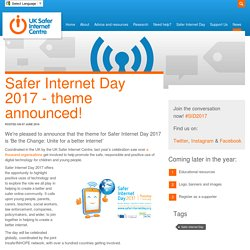 Safer Internet Day 2017 - theme announced!