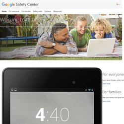 Safety Center – Google
