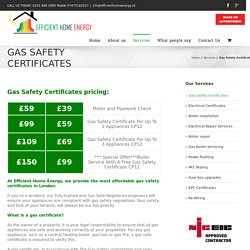 Gas Safety Certificates in London