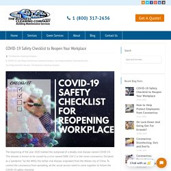 COVID-19 Safety Checklist to Reopen Your Workplace