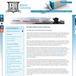 Safety Concerns with Li-ion Batteries