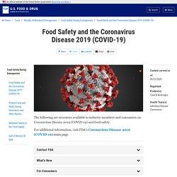 FDA - Food Safety and the Coronavirus Disease 2019 (COVID-19)