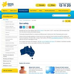 Sun safety - Cancer Council Australia