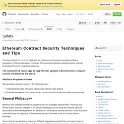 Safety · ethereum/wiki Wiki