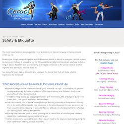 Safety & Etiquette - Ceroc and Modern Jive Dance Company