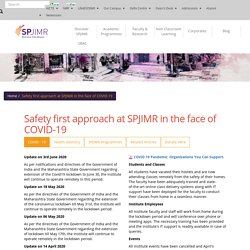 Safety first approach at SPJIMR in the face of COVID-19