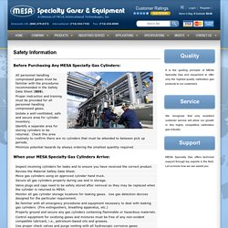 Safety Information Before Purchasing Calibration Gas