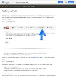 YouTube - Safety Mode