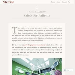 Safety for Patients – Site Title