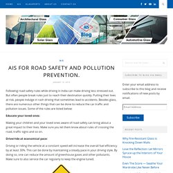 AIS for Road Safety and Pollution Prevention. - AIS GLASS