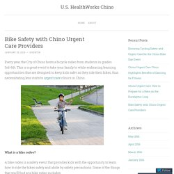 Bike Safety with Chino Urgent Care Providers