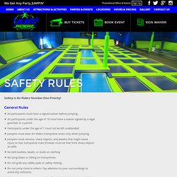 Indoor Playgrounds Activities: Safety At Air Riderz