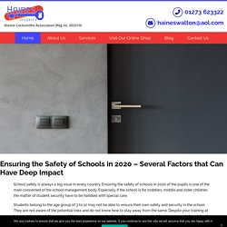 Safety of Schools in 2020 – Several Factors that Can Have Deep Impact