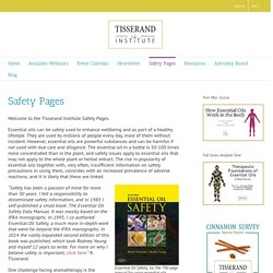 Safety Pages – Tisserand Institute