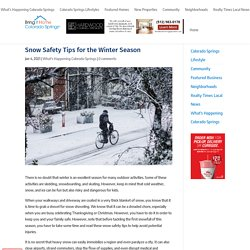 Snow Safety Tips for the Winter Season - Bring It Home Colorado Springs