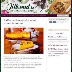 Saffranscheesecake med mazarinbotten - Jills MAT