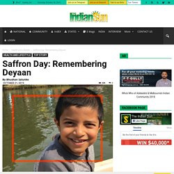 Saffron Day: Remembering Deyaan